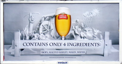 Advert for Stella Artois.