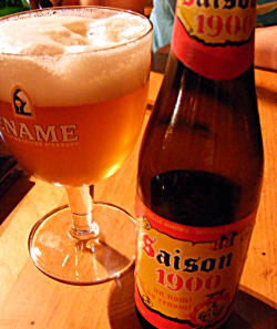 Saison 1900 beer in the Dove pub, Hackney, London