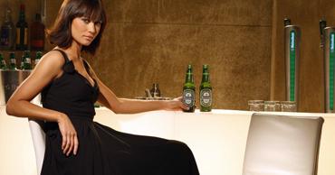 Olga Kurylenko in a Bond tie-in Heineken ad