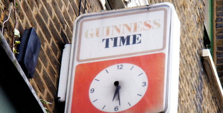An irrelevant photo of an old Guinness marketing gewgaw in Clapham, South London