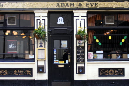The Adam and Eve pub in Westminster, London