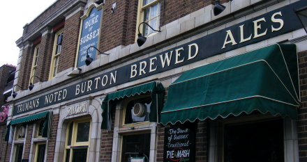Old pub livery: Truman's Noted Burton Brewed Ales
