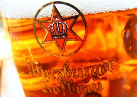 A pint of Wuerzburger Hofbrau Pils