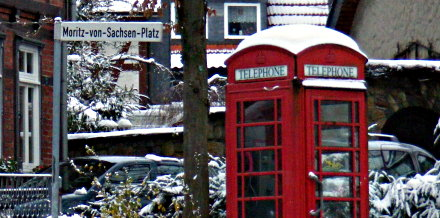 A British phone box in Germany