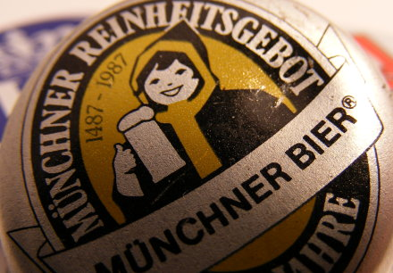 The cap from a bottle of Augustiner lager beer