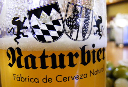 Unfiltered lager at Naturbier in Madrid
