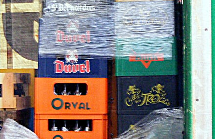 A truck full of Duvel, Orval, Troll, St Bernardus and Bush beers.