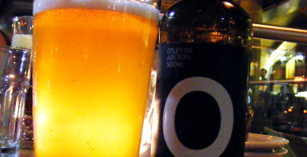 A bottle of Otley beer.