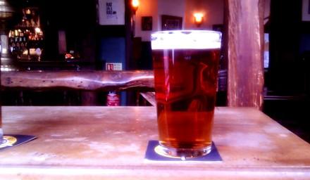 A pint of Brison's Bitter at the Star Inn.