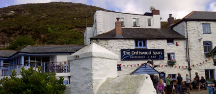 The Driftwood Spars pub and brewery viewed from the beer garden.