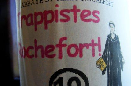 A mocked up label for Rocherfort 10 using Comic Sans.